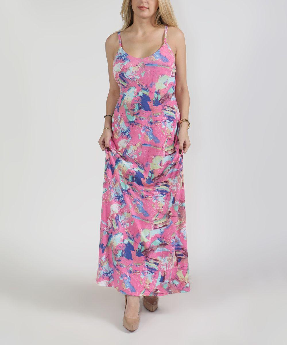 Floral Spaghetti-Strap Maxi Dress - Plus Too