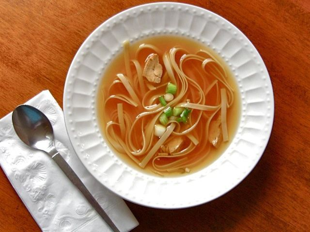 This low fat Asian chicken noodle soup will warm you from the inside out. Not only is it soothing and comforting, but this low fat Asian chicken noodle soup is altogether delicious!