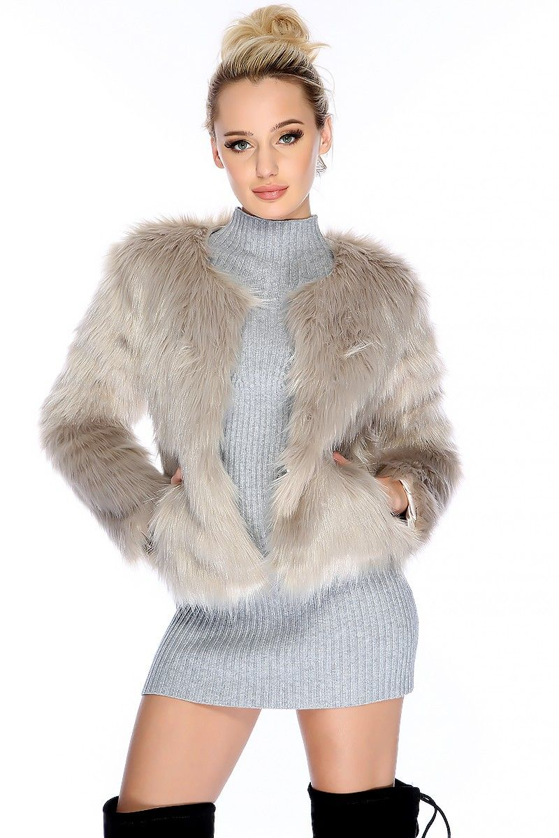 f3f61efc6 This is a must have jacket for the fall and winter season! Features; long  sleeve, faux fur, bold color, open front,front pockets, followed by a loose  wear.