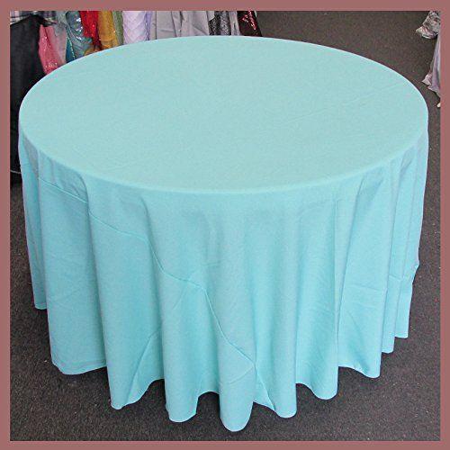 Tablecloth Round 90 Inches Poly Poplin Polypoplin Polyester Gabardine Linens Aqua For Wedding And Table Cloth Tablecloths For Sale Tablecloth Rental