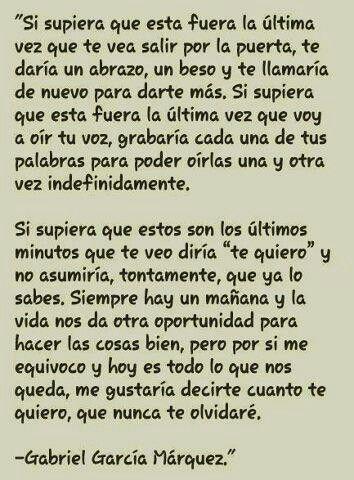 Carta De Despedida Gabriel Garcia Marquez Esto Es Solo