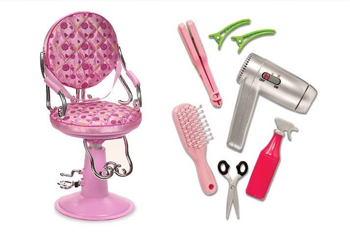 sitting pretty salon chair  light pink