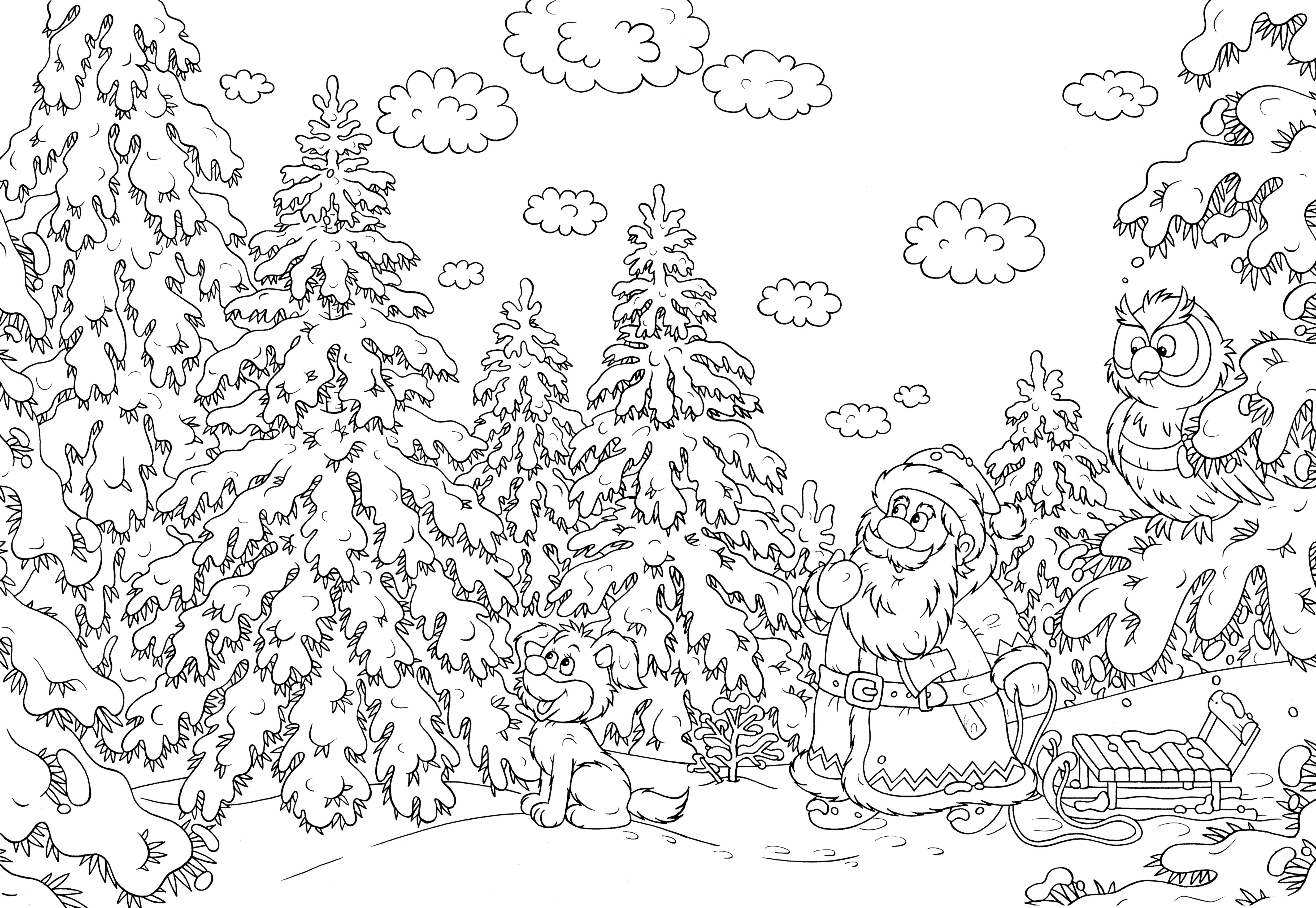 Complicated Tree Coloring Pages Gallery