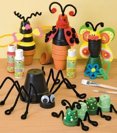 Clay Pot Bug Buddies how to - great for kids!