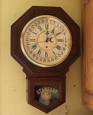 Antique Gilbert Admiral Simple Calendar 8 Day Wall Clock C1901 It Runs 532479630 Wall Clock Clock Antique Wall Clock