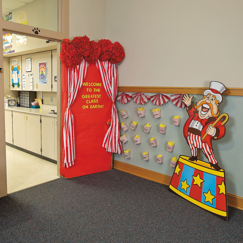 Carnival door decoration idea for Idea boards for decorating