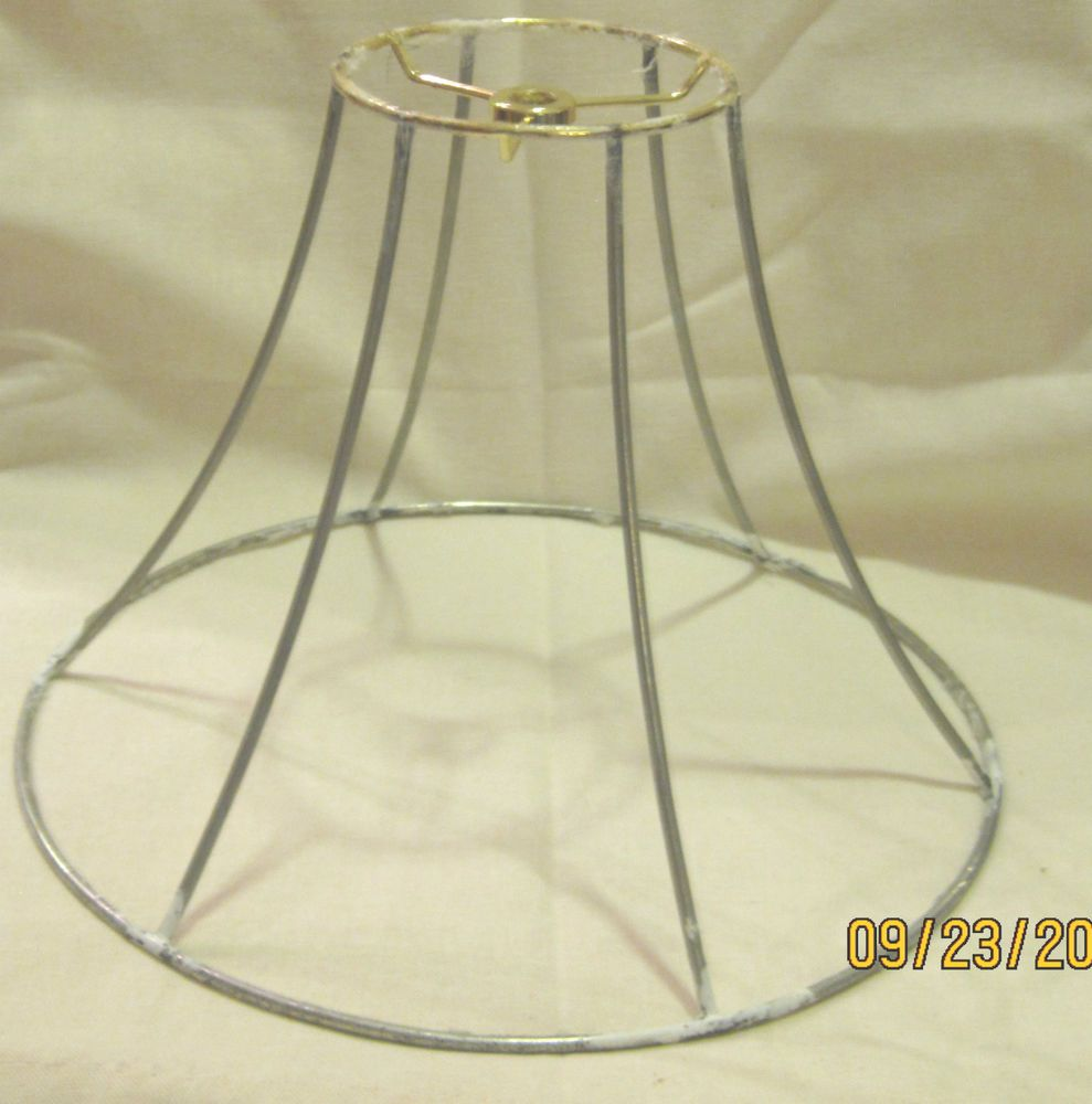 bell shape wire lampshade frame refurbishing 9x 11 12 x 4 - Wire Lampshade Frames
