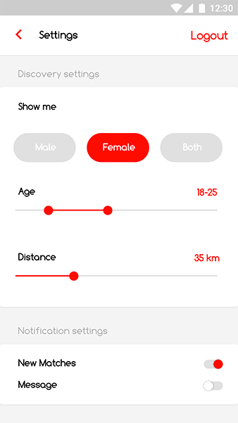 Online Dating Android App + iOS App Template | Destino (HTML