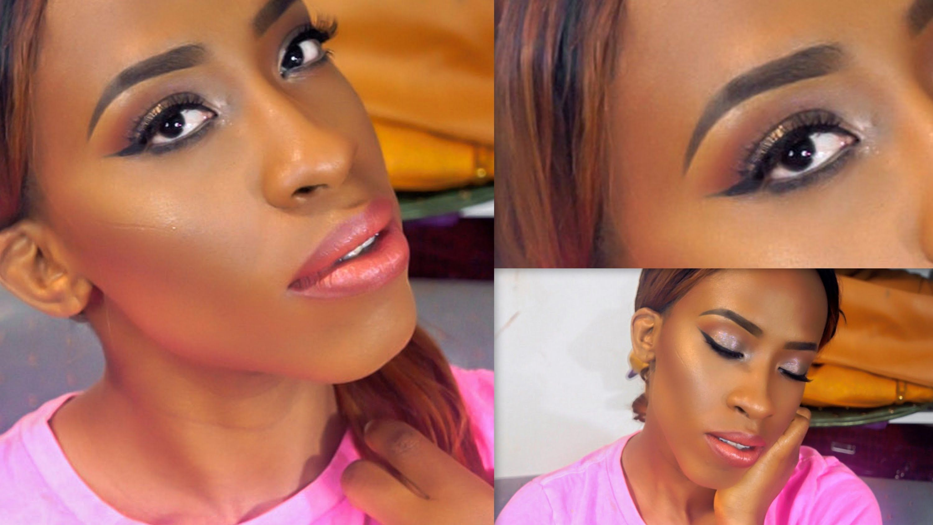 Neutral glowy glam prom makeup tutorial on dark skin full face hey loves today i am doing a neutral makeup tutorial for prom dedicated to average black women even lighter skin tones can pull of this glam look baditri Gallery