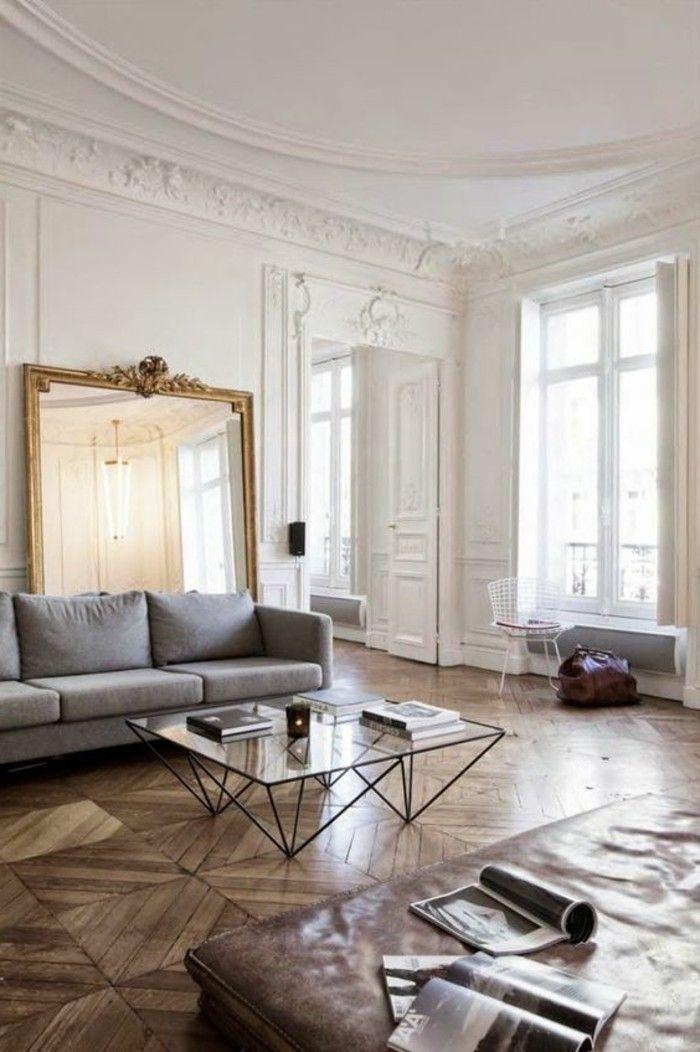 76 id es avec un miroir grand format miroir pinterest - Miroir mural salon ...
