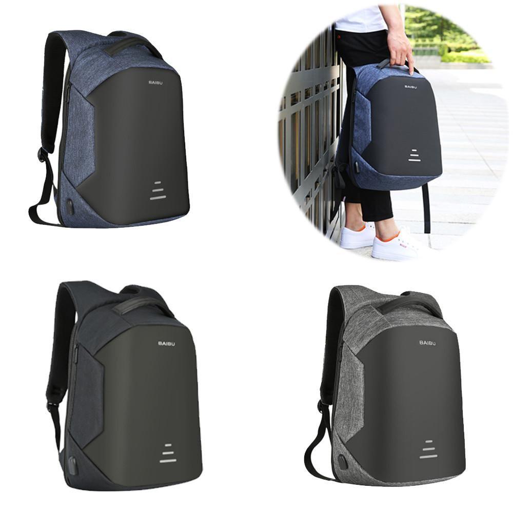 Men Charging Backpack Waterproof Satchel Bag Large Capacity Laptop Backpack