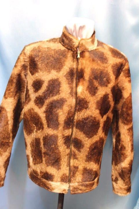 63fa77e788d2 $14995 Rafaello Exotic Giraffe Leather Skin Jacket Size S ML-6XL #Custommade