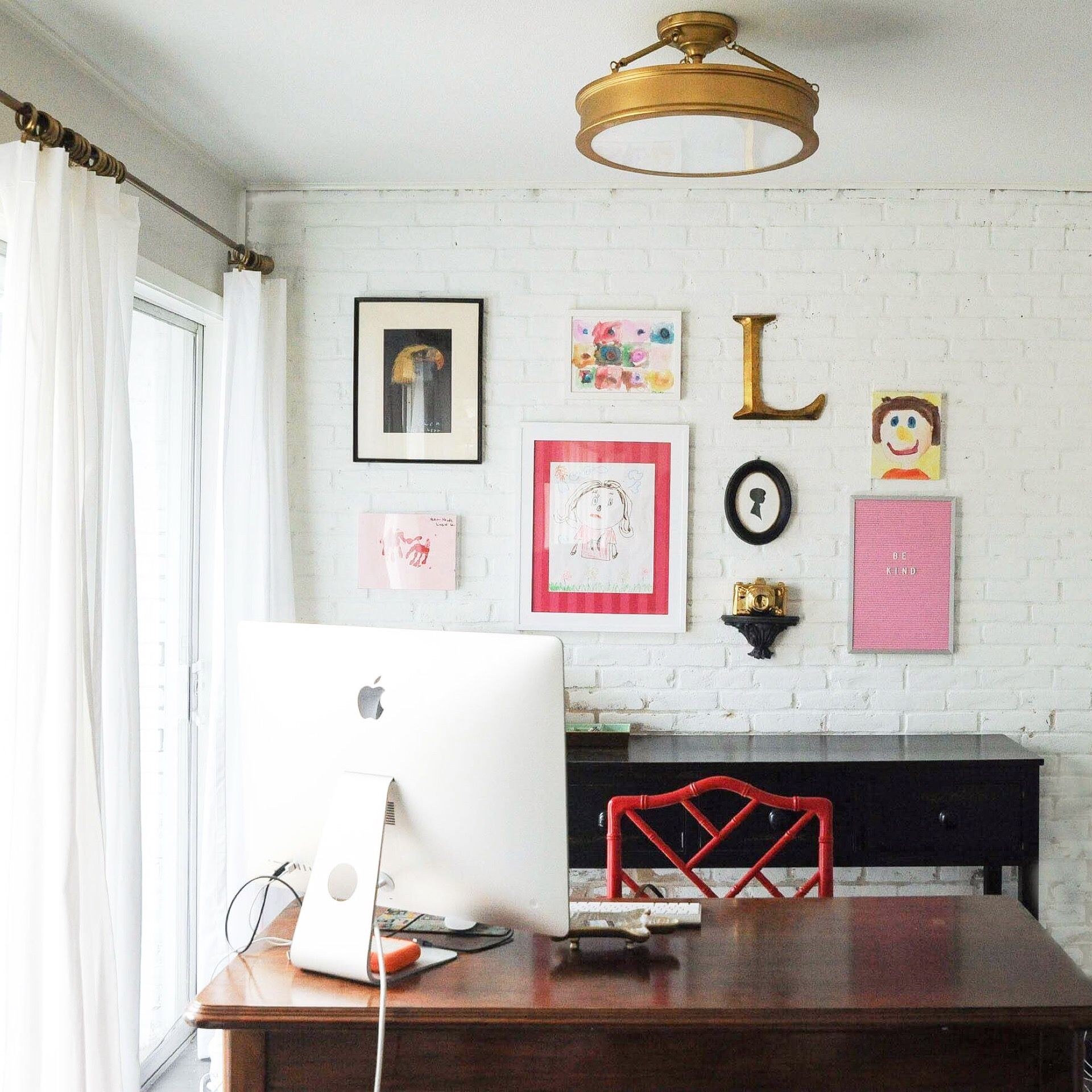 My Office Fun Preppy Office Pink Kids Art Classic Home