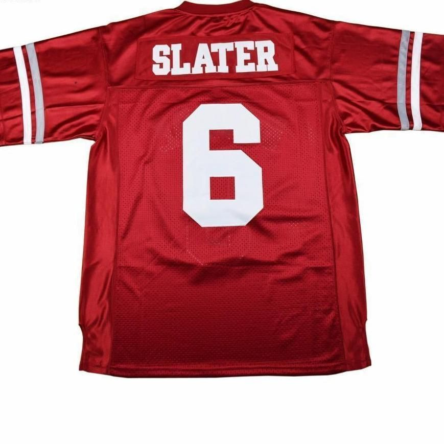 c7fc19232c70 Saved By The Bell AC Slater 6 Bayside Football Jersey