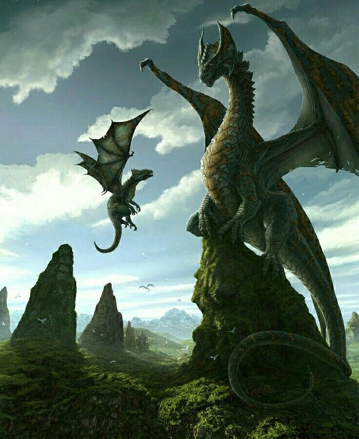 Dragons Mother And Child Fantasy Dragon Dragon Pictures
