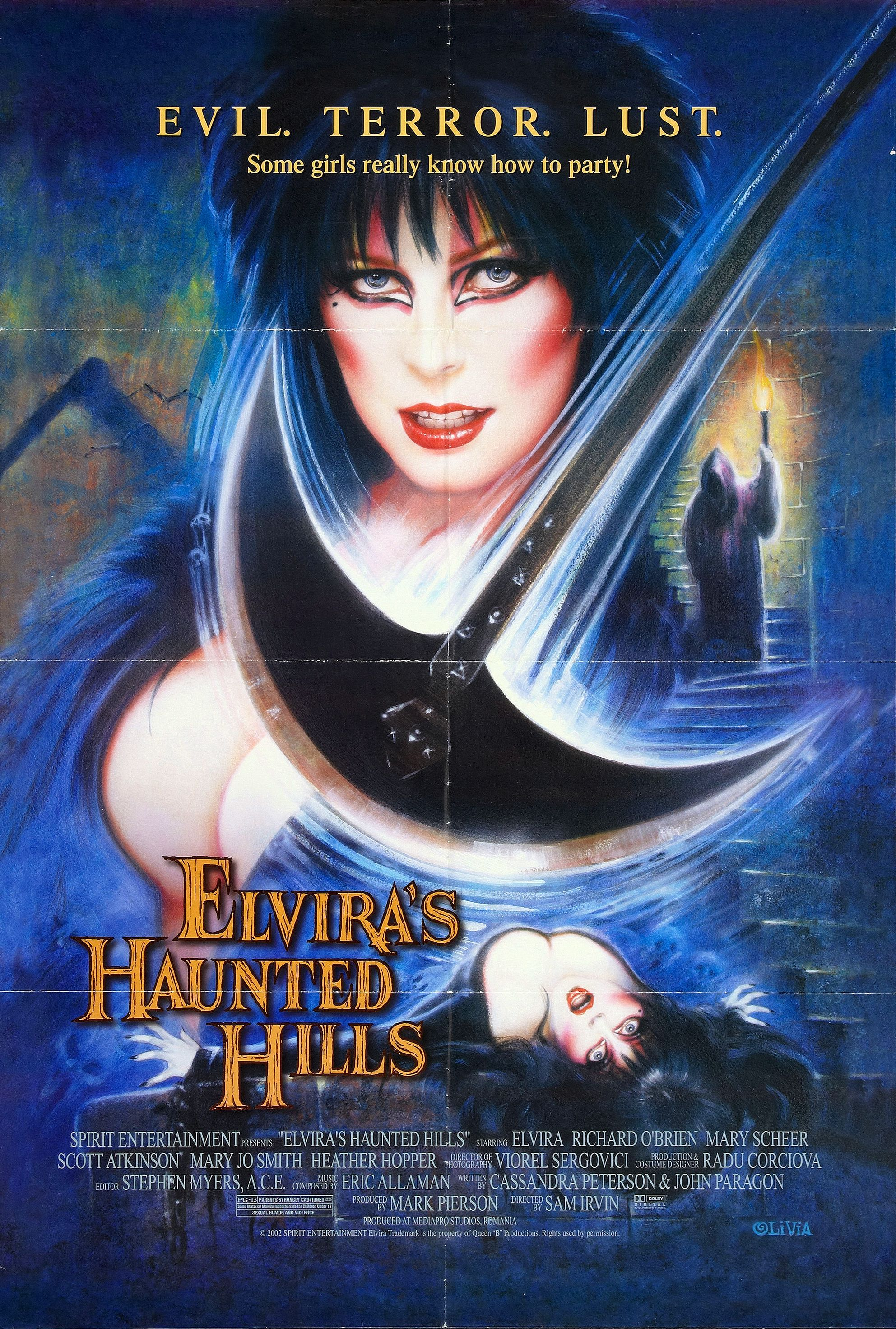 Elvira S Haunted Hills 2001 Cassandra Peterson Movie Posters