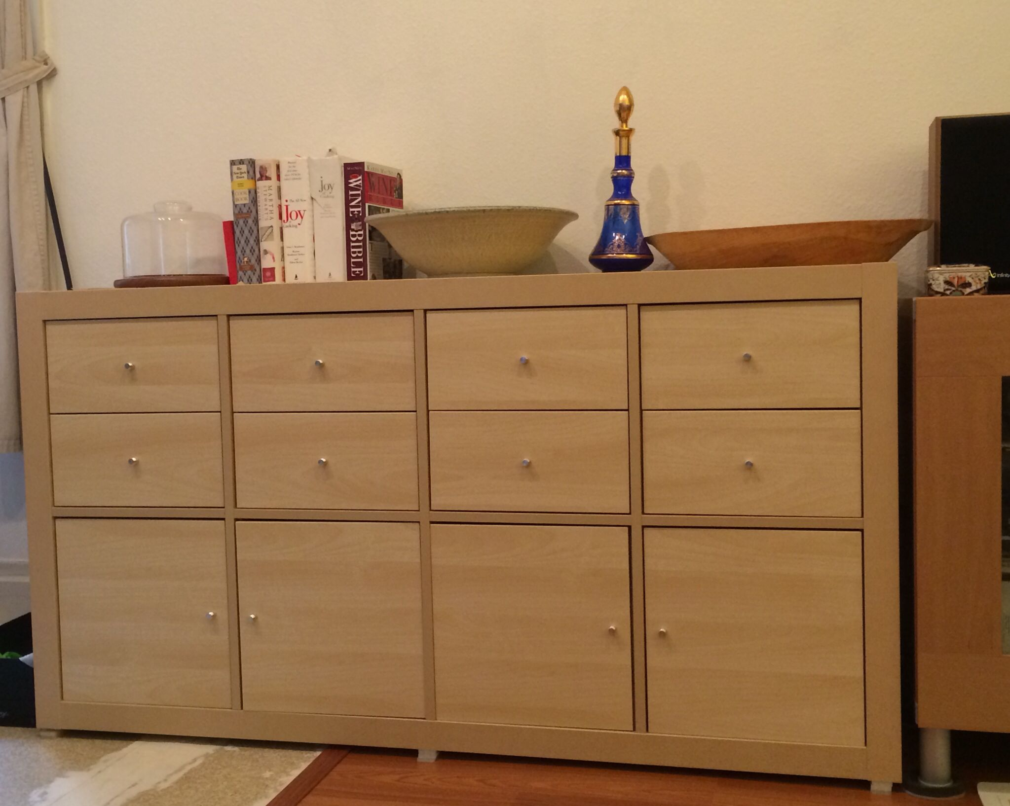 Ikea Expedit With Kallax Doors And Drawers To Make A