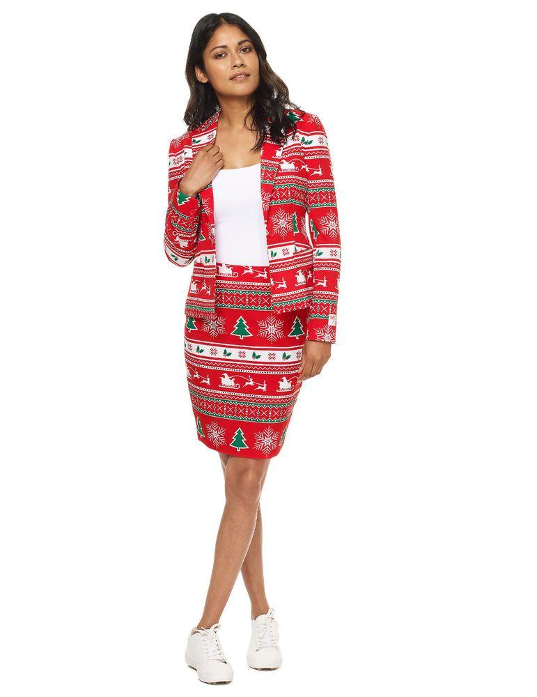Costume Mrs Winterwonderland femme Opposuits™ Tailles XS à XL ... a35b1e3ad8e87