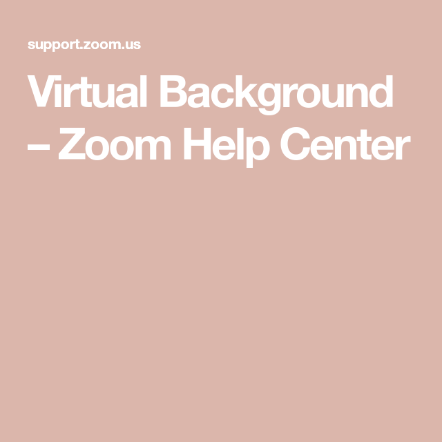 Virtual Background Zoom Help Center Background Virtual Image