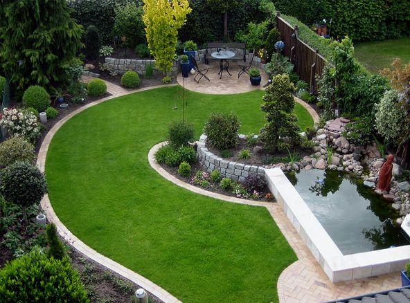 Gartenanlage modern decor pinterest gartenanlage for Gartenanlage modern