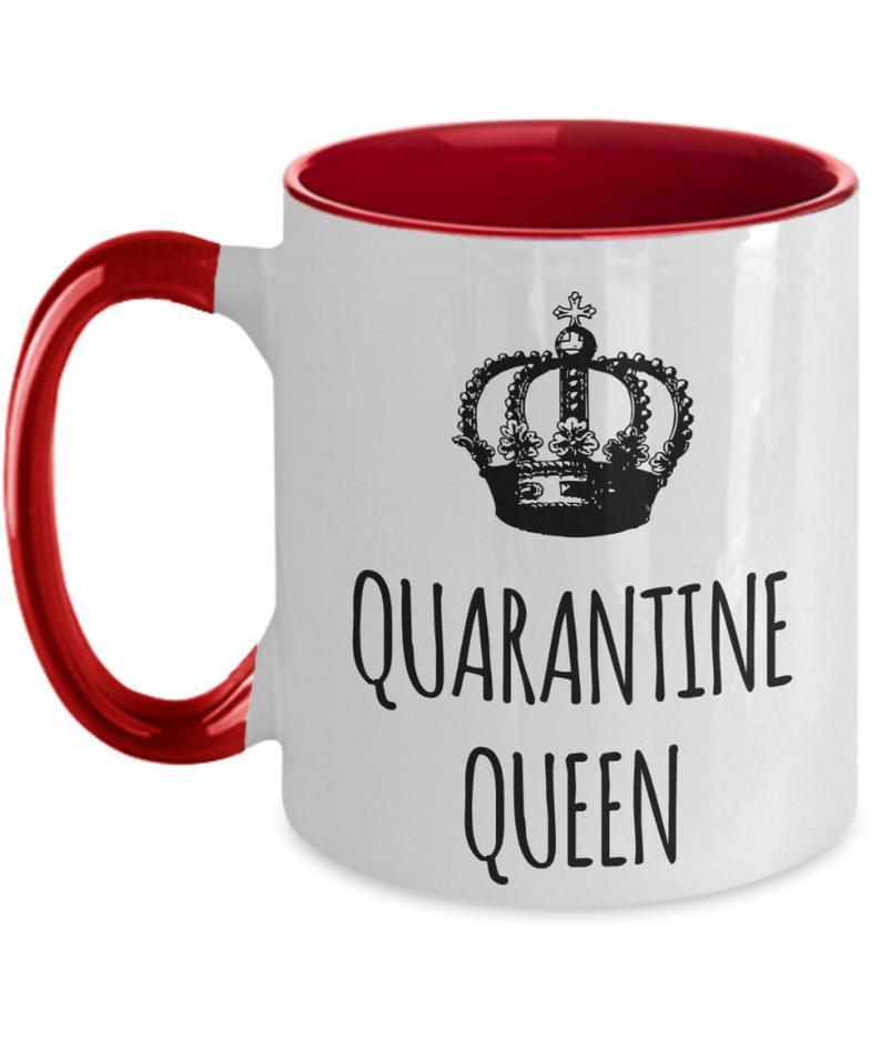 Quarantine Queen Mug Social Distancing Mug Gift For Mom Etsy