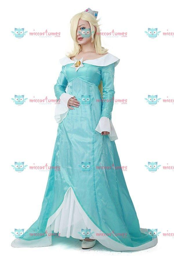 Princess Rosalina Costume For Kids Super Mario Rosalina C...