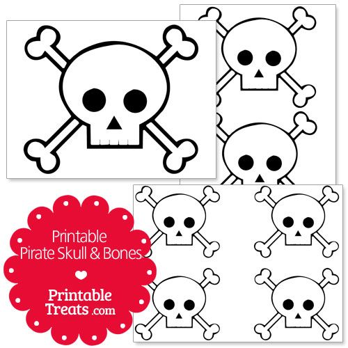 Printable Skull and Crossbones from PrintableTreats.| Kids