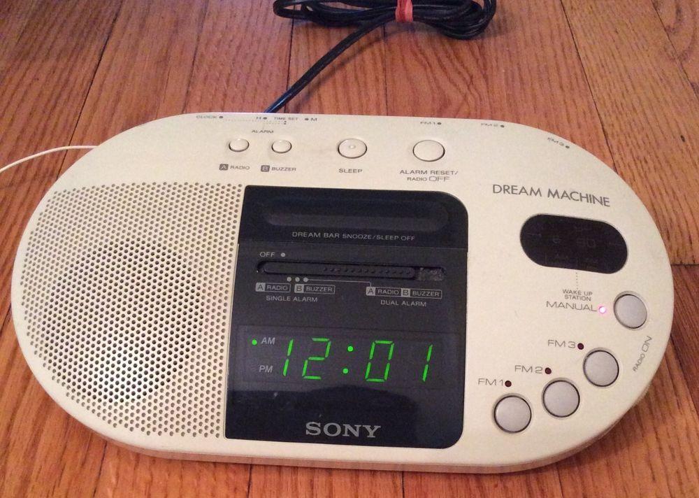 Sony Dream Machine Fm Am Clock Radio Alarm Model Icf C730 Dream Machine Sony Radio