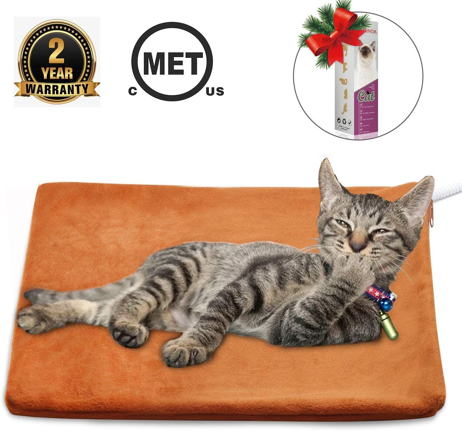 Marunda Pet Heating Pad Cat Dog Electric Pet Heating Pad Indoor Waterproof Auto Constant Tempera Pet Heating Pad Pets Cats