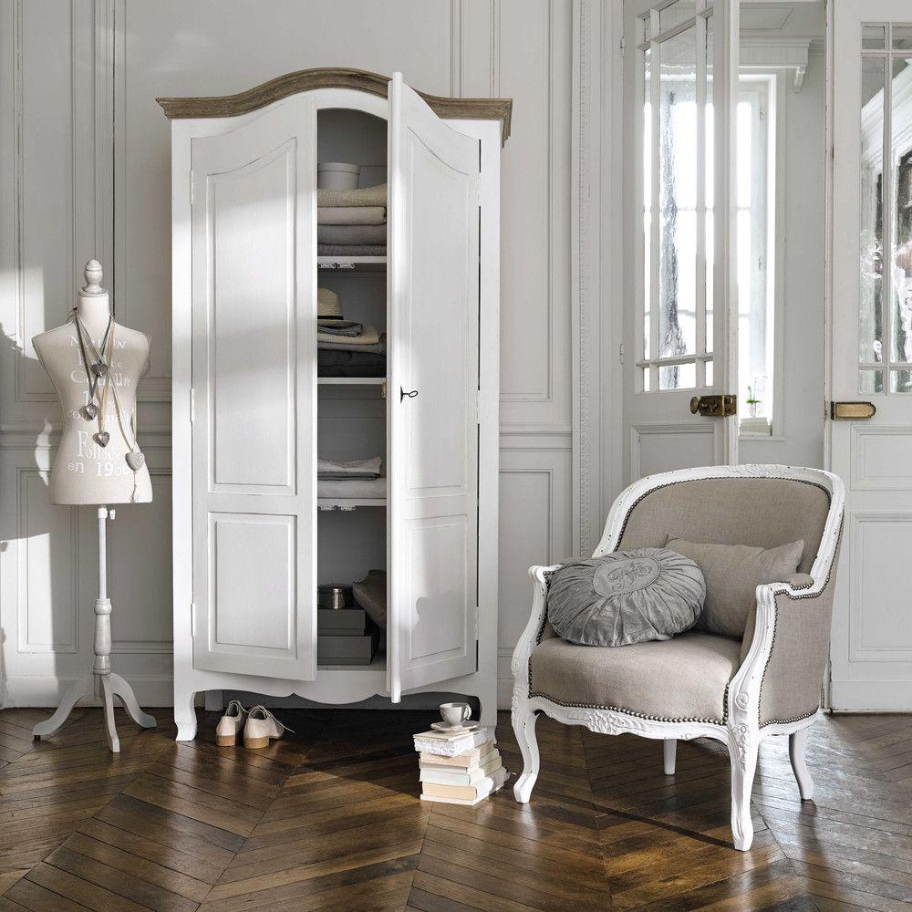 Armoire en manguier blanc L 110 cm Versailles | Maisons du Monde ...