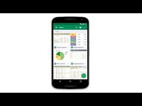 Meet the Sheets app for Android YouTube (With images
