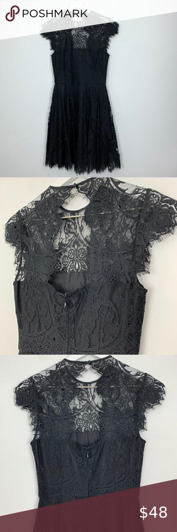 "BB Dakota Black Lace Fit & Flare Dress Sz 0 NWT Approximate measurements  Pit to pit 16"" Waist 12.5"" Hip 24"" Length 36""  A00 0502 BB Dakota Dresses"