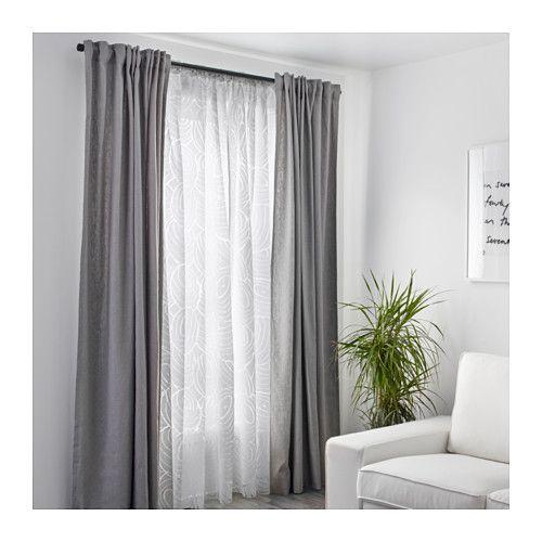NORDIS Gardinenstore Paar, weiß Ikea, Paar und Tageslicht - vorhänge blickdicht schlafzimmer