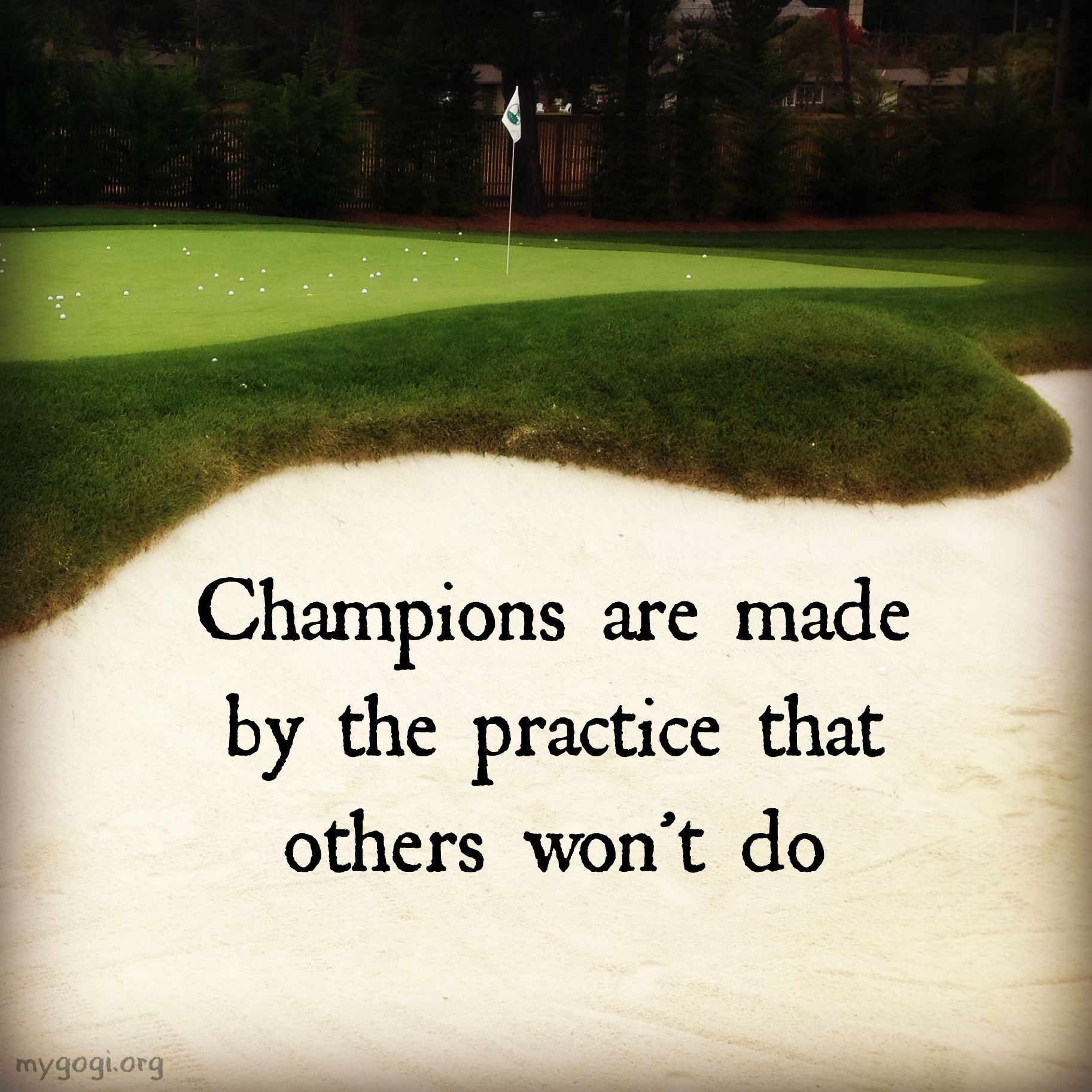 How hard do you practice when no one is watching? Golf