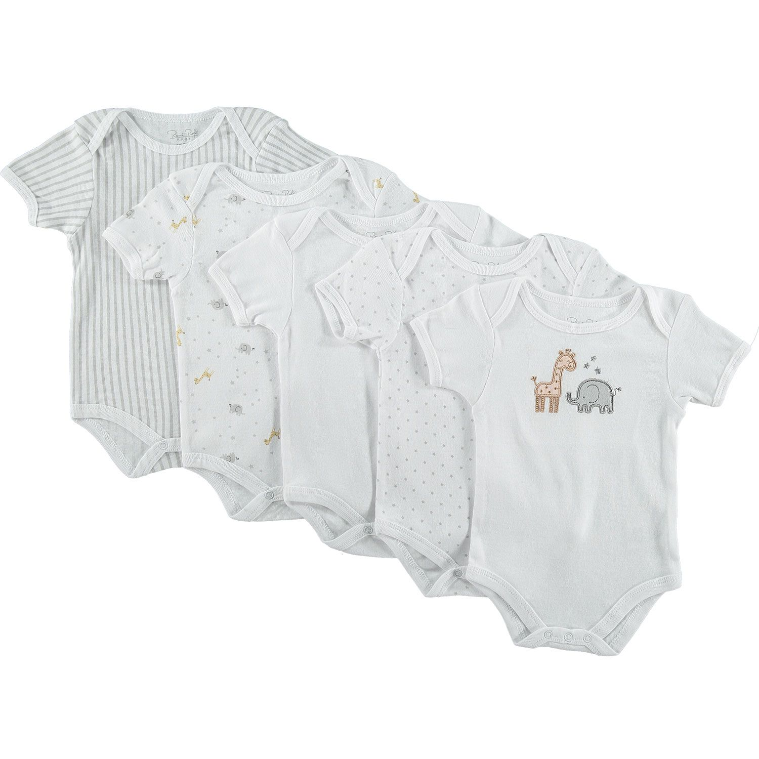 "7 99 ""Rene Rofe"" Five Pack Baby Grows TK Maxx"