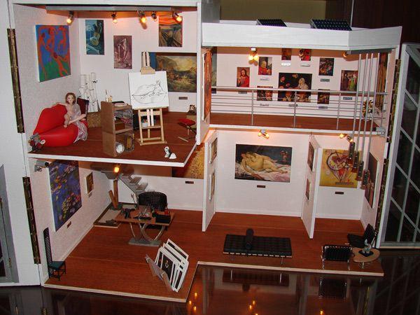 Miniaturas modernas galería de arte exposición 1