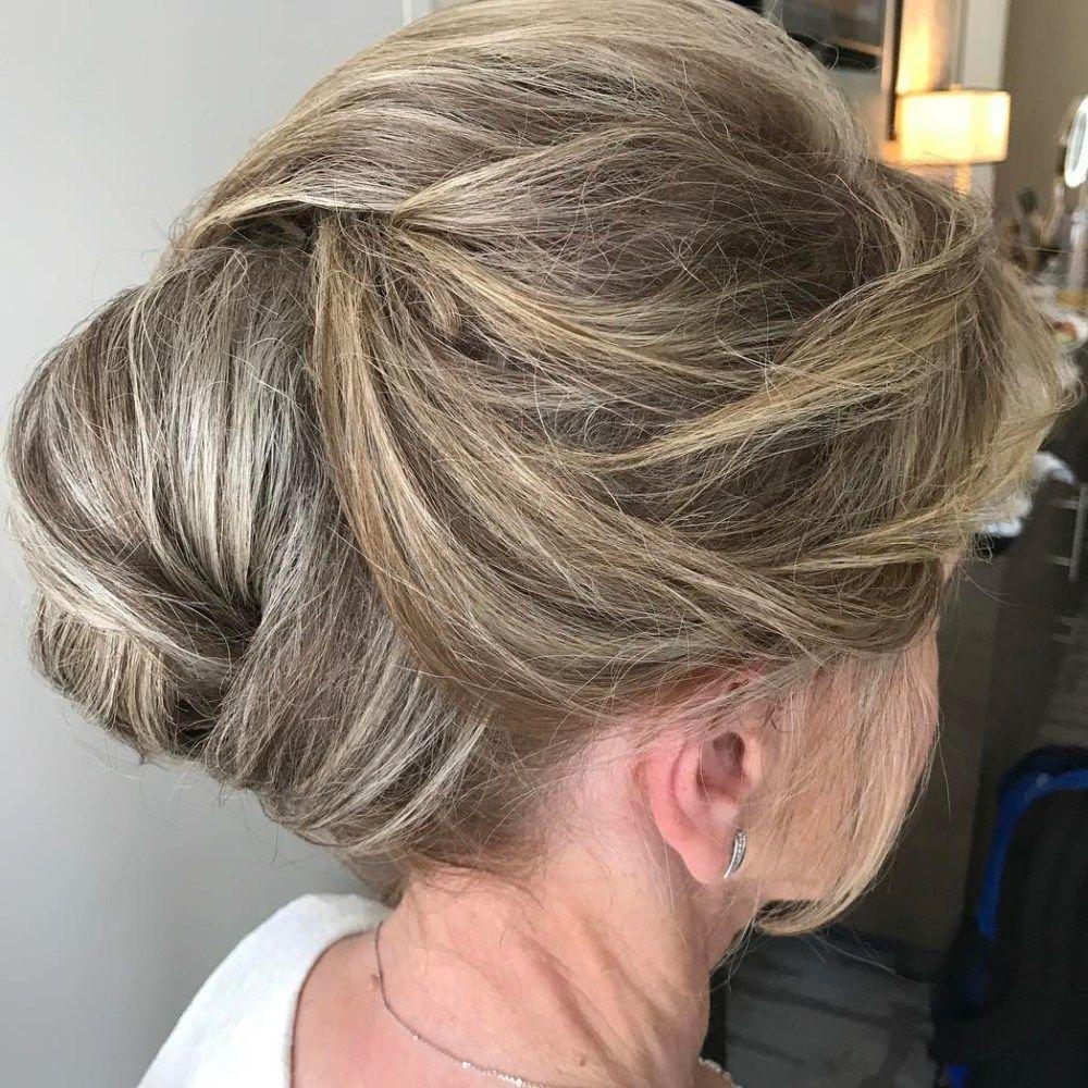 stylish long hairstyles for older women pinterest formal updo