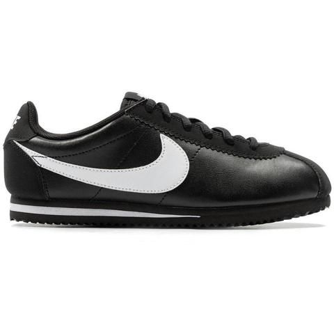 Nike Cortez Leather Kids - Black / White