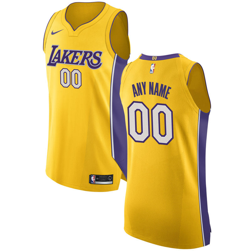 Los Angeles Lakers Nike Authentic Custom Jersey Gold Icon Edition Basketball T Shirt Designs Los Angeles Lakers Custom Jerseys