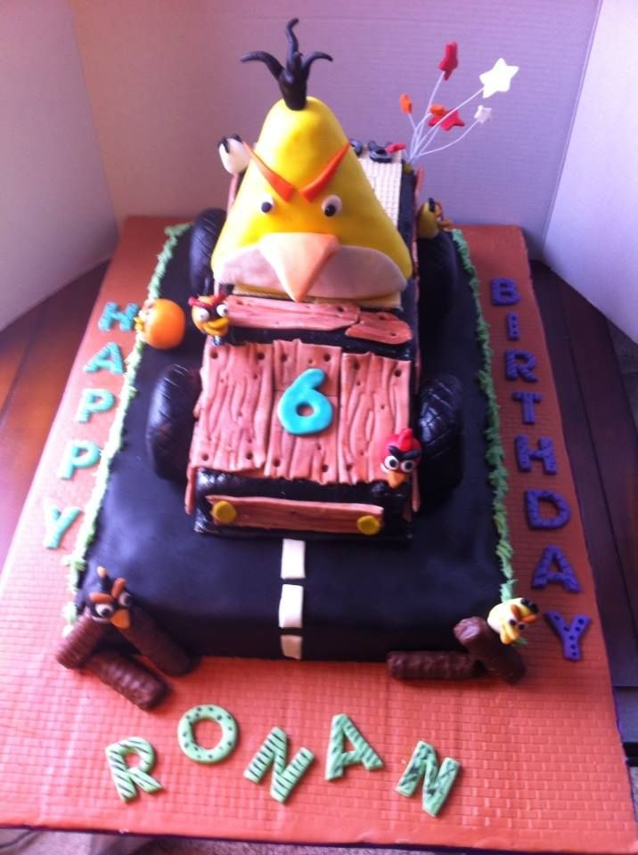 how to make fondant cake go angry bird cake for 6 yr birthday some of 4993