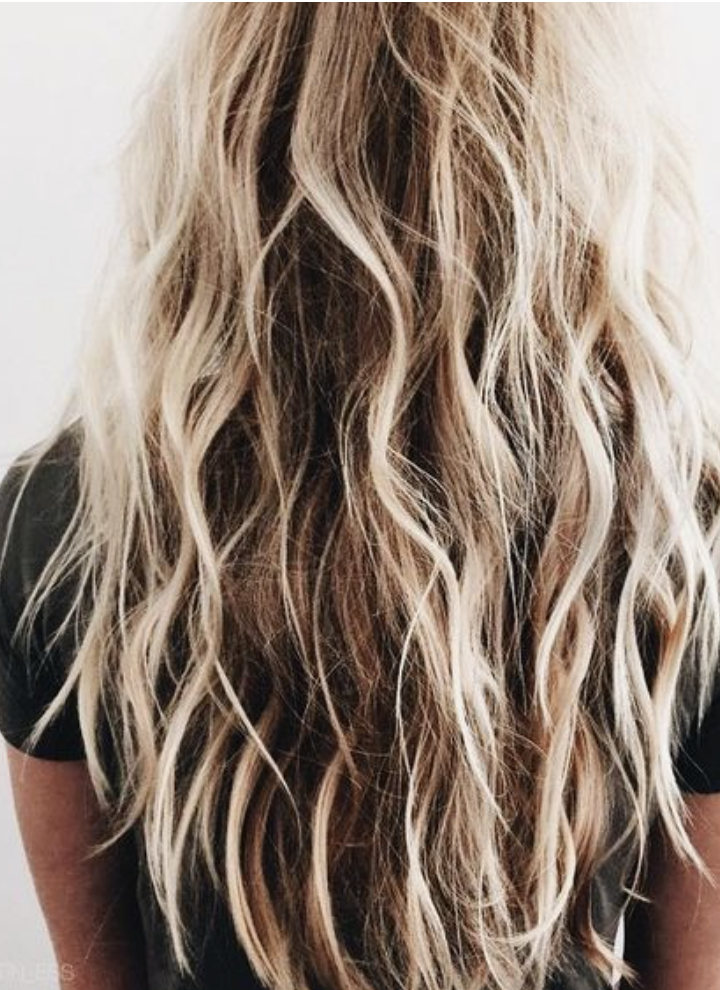 Long Blonde Balayage Beachy Hair Highlights Sunkissed Hair Handpainted Highlights Best Long Hair Ideas Beachy Cur Surfer Hair Surf Hair Blonde Balayage