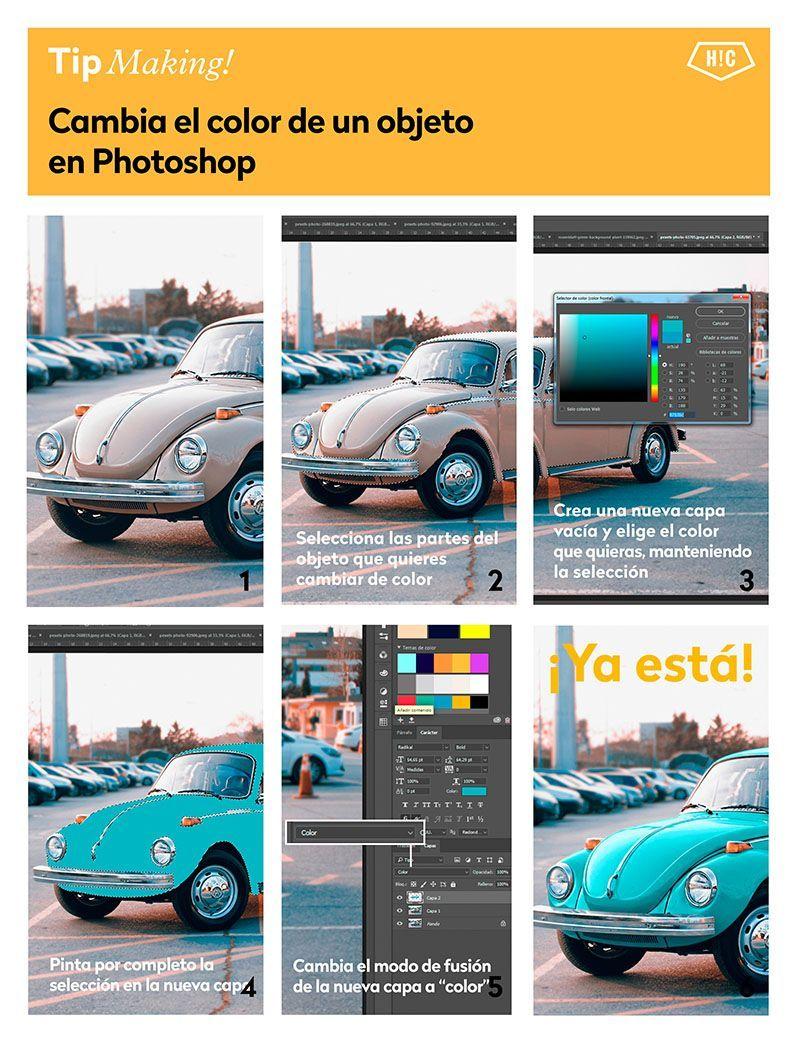 5 trucos para cambiar el color en Photoshop