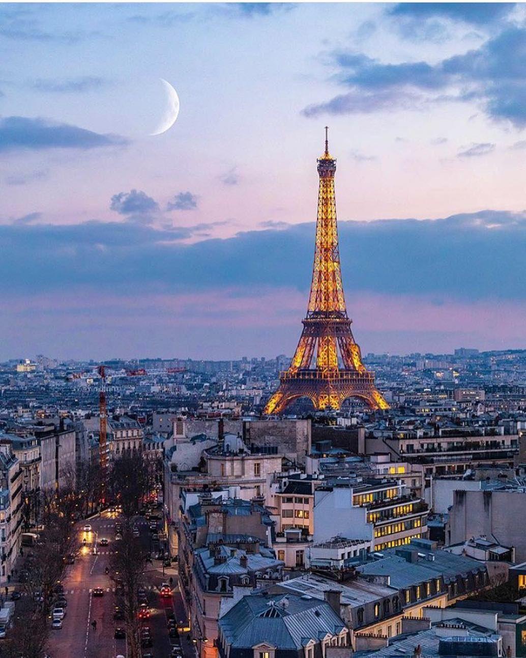 Evening Views Francai Paris Travel Paris Paris Tour Eiffel