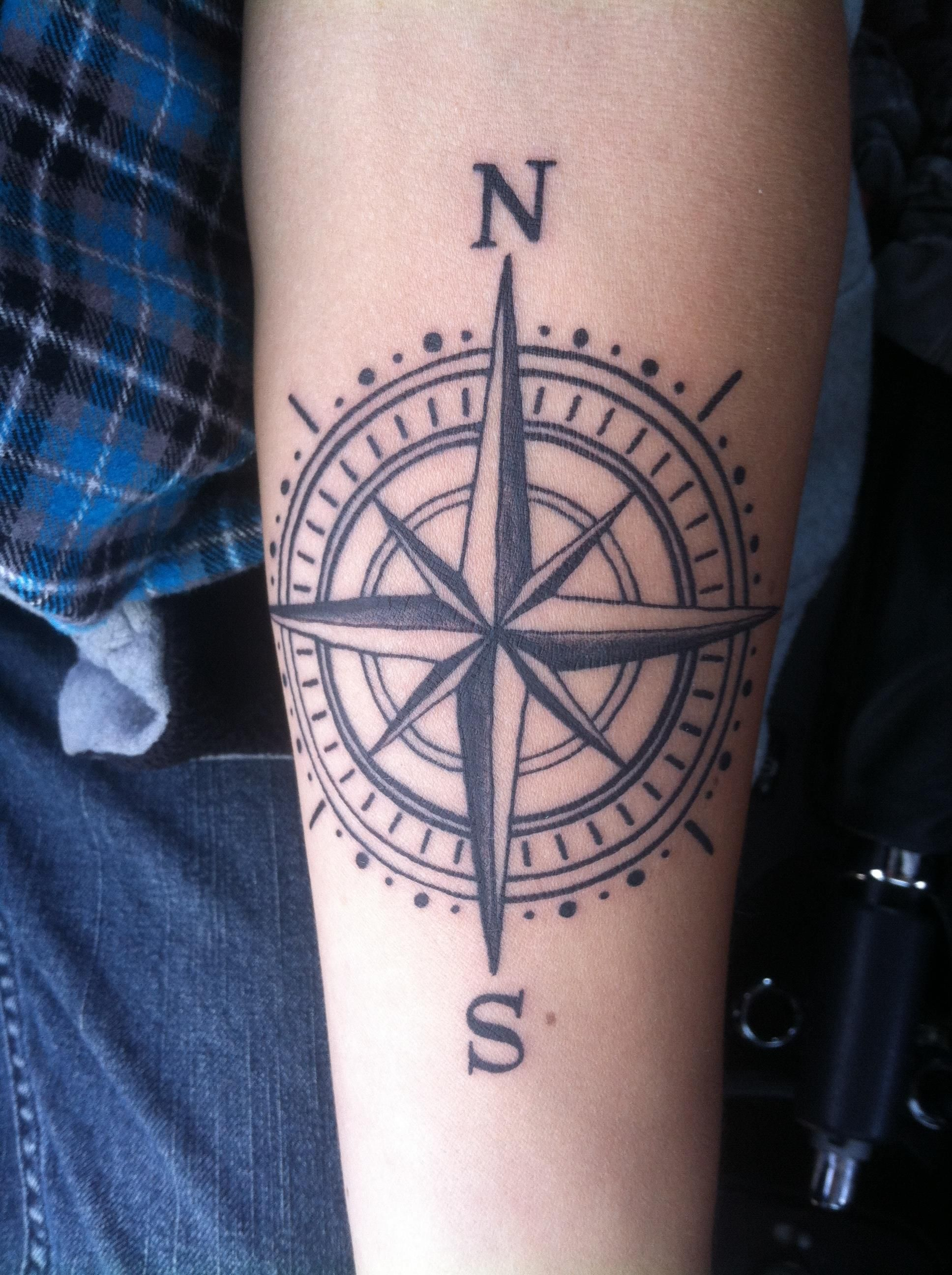 Forearm Compass Tattoo I Did Thanks For Lookin Wip