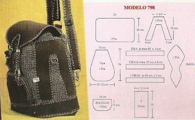 moldes de mochilas escolares modelo moderno