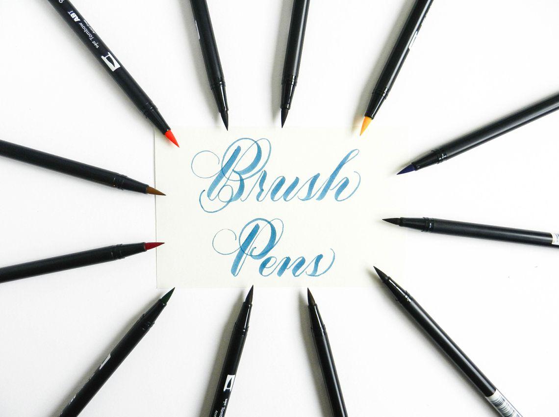 Brush pen tutorial giveaway brush pen tutorials and calligraphy