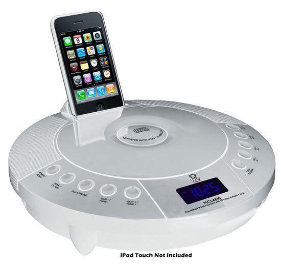 IPhone/IPod FM Radio Receiver with CD Player & Alarm Clock