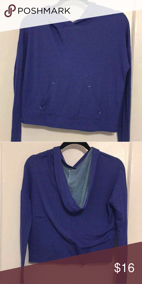 NEVER WORN SUPER SOFT hoodie Extremely Soft blue hoodie with a front pocket Aeropostale Tops Sweatshirts & Hoodies