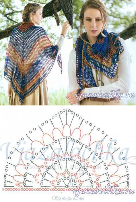 накидки и шали | GANCHO | Pinterest | Croché, Chal y Ganchillo