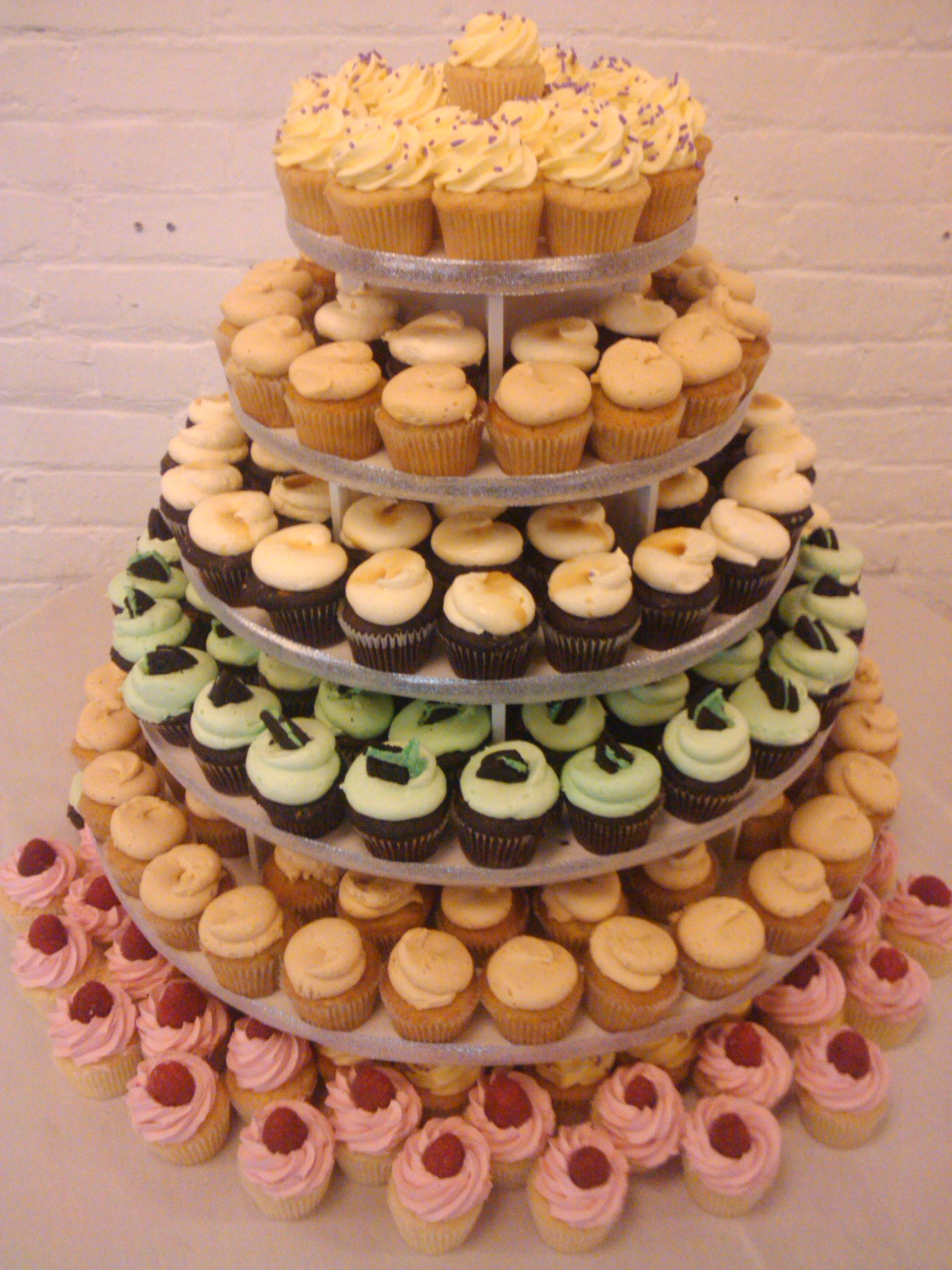 A simple mini cupcake display at the Mattress Factory for the ...